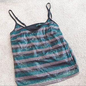 Wild Fable striped sequin tank top